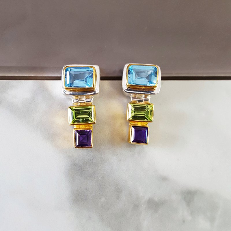 Michou Tropical Geometric Earrings