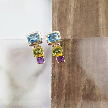 Tropical Geometric Earrings