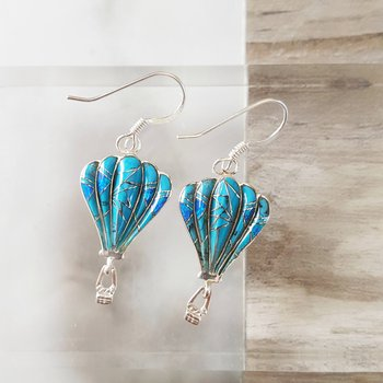 Turquoise Hot Air Balloon Earrings