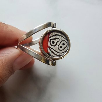 Abstract Spinning Butterfly Ring