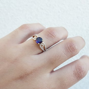 Amethyst Swirling Ring