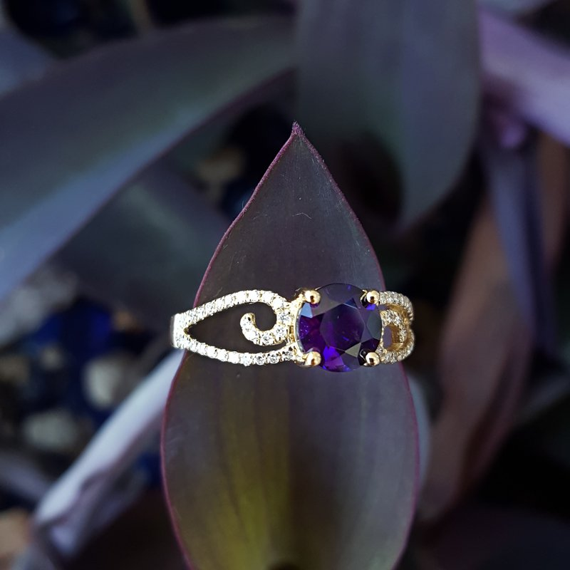 Arizona Amethyst™ Gold Jewelry Amethyst Swirling Ring