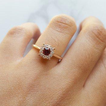 Petite Halo Ring