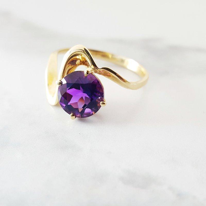Arizona Amethyst™ Gold Jewelry Swirl Arizona Amethyst Ring