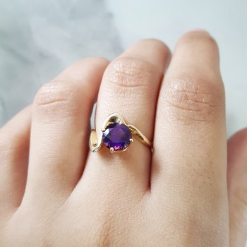 Swirl Arizona Amethyst Ring