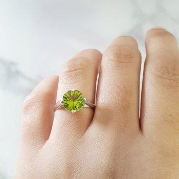Peridot Starburst Ring