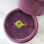 Arizona Peridot Silver Jewelry Peridot Starburst Ring