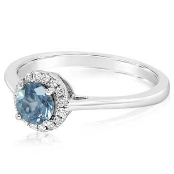 Montana Sapphire Halo Ring