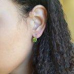 Arizona Peridot Gold Jewelry Peridot Leverback Earrings