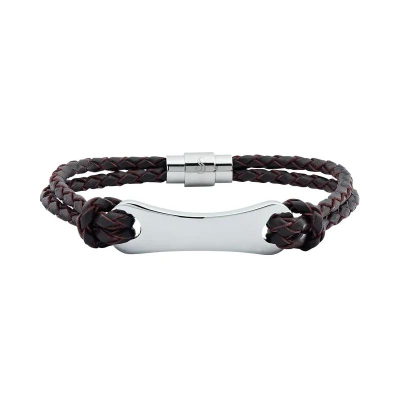 Sami Fine Jewelry Leather & Stainless Steel Bracelet