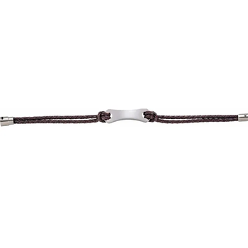 Leather & Stainless Steel Bracelet