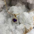 Arizona Amethyst™ Gold Jewelry Prong and Bezel Pendant