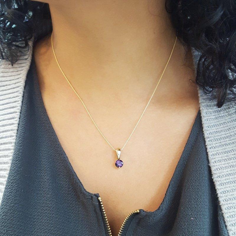 Arizona Amethyst™ Gold Jewelry Bale Pendant