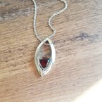 Arizona Anthill Garnet Silver Jewelry Trillion Drop Necklace