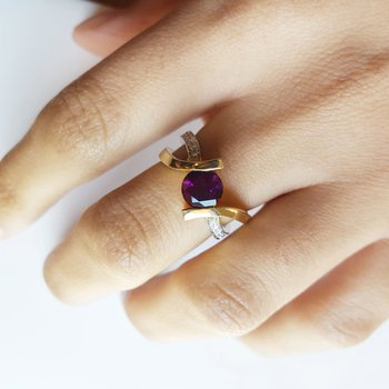 Two Tone Caress Ring