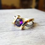 Arizona Amethyst™ Gold Jewelry Two Tone Caress Ring