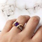 Arizona Amethyst™ Gold Jewelry Two Tone Caress Ring