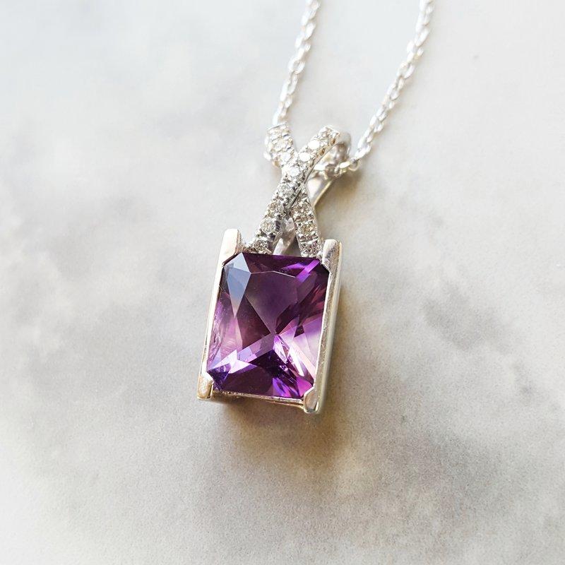 Arizona Amethyst™ Gold Jewelry Radiant Crossed Pendant