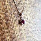 Arizona Anthill Garnet Silver Jewelry Garnet Solitaire Pendant