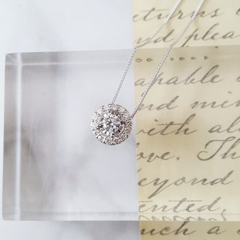 True Reflections Halo Necklace