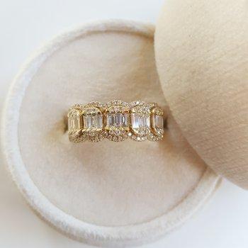 Diamond Cluster Vintage Ring