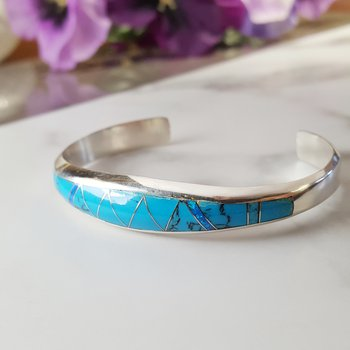Tapered Turquoise Cuff