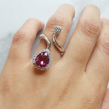 Wrap Around Pink Tourmaline Ring