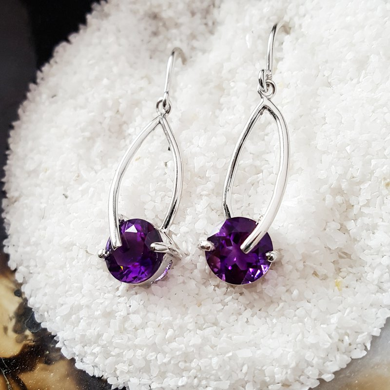 Arizona Amethyst™ Silver Jewelry Amethyst Dangle Earrings