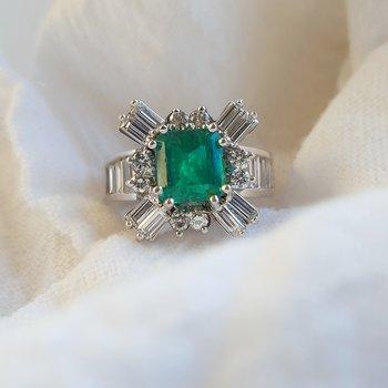 Vintage Natural Emerald Ring