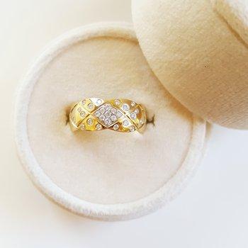 Flush-Set Diamond Ring