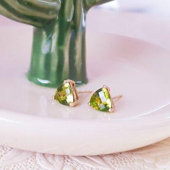 Large Trillion Stud Earrings