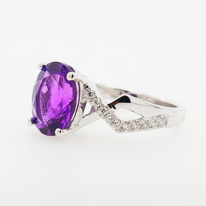 Arizona Amethyst™ Gold Jewelry Open Shank X Ring