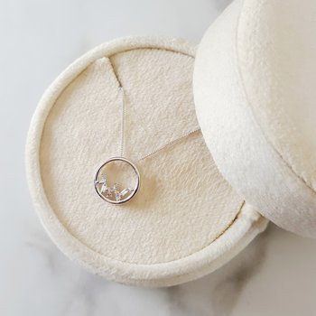 Cascade Circle Necklace