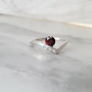 Garnet Edge Ring