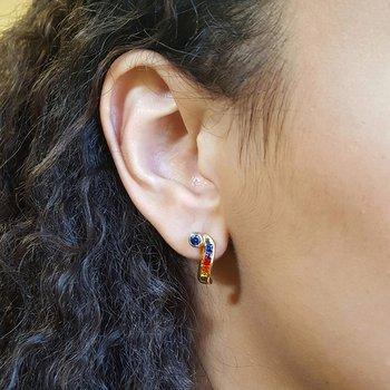 Multi Colored Sapphire Earrings