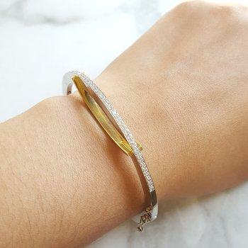 Overlap Diamond Bracelet