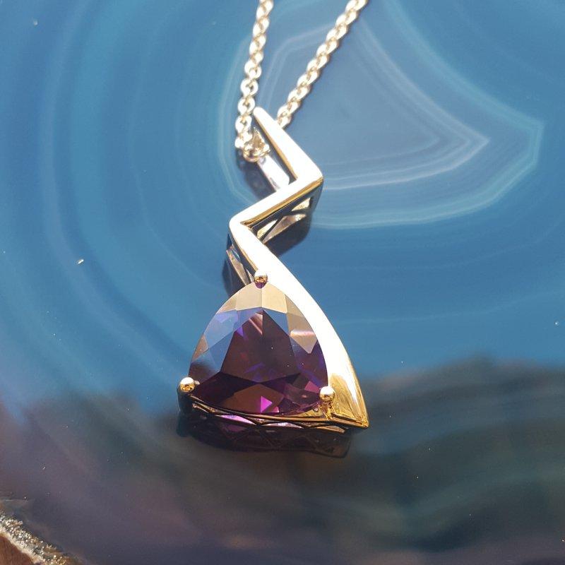 Arizona Amethyst™ Gold Jewelry Lightning Bolt Beauty