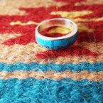 Arizona Turquoise and Inlaid Jewelry Turquoise Geometric Ring