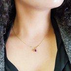 Arizona Amethyst™ Gold Jewelry Layered Bar Pendant