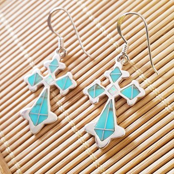 Antique Cross Earrings