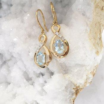 Aquamarine Dangle Earrings