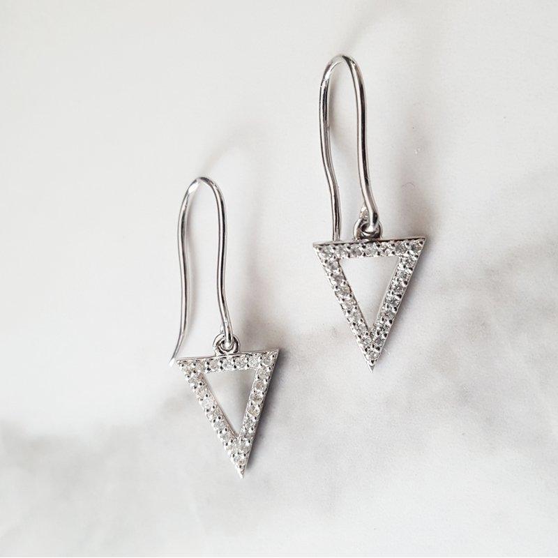 Sami Fine Jewelry Triangle Diamond Earrings