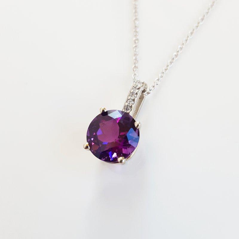 Sami Fine Jewelry Round Superior AZ Amethyst Pendant