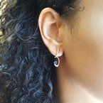 Sami Fine Jewelry Tanzanite Curved Dangle Earrings
