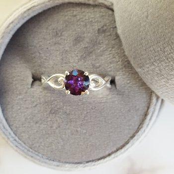 Amethyst Infinity Swirl Ring