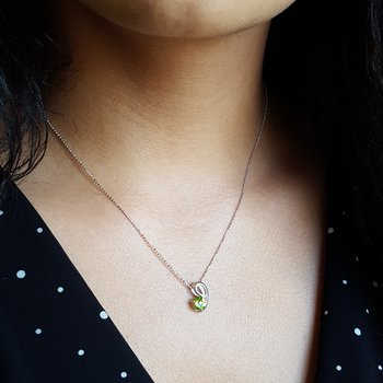 Peridot Swoop Necklace
