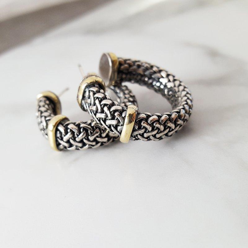 Sami Fine Jewelry Woven Hoops