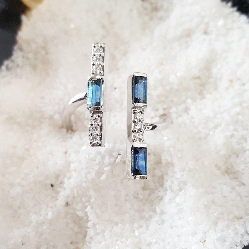 American Gem Collection™ Montana Sapphire Bar Ring