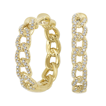Gold Chain Style Hoops