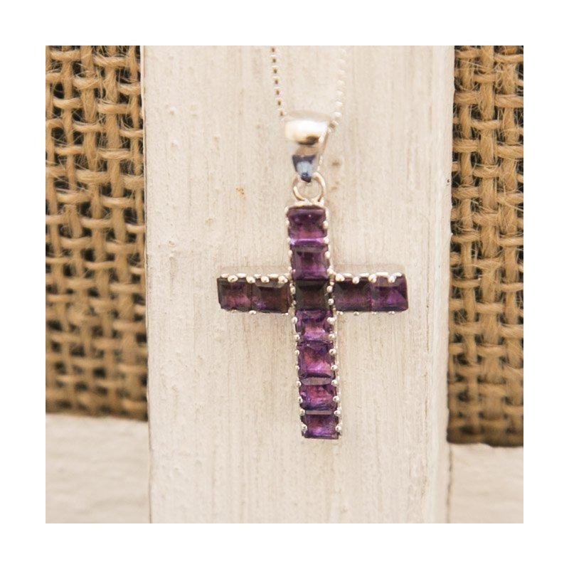 Arizona Amethyst™ Silver Jewelry Arizona Amethyst Cross Pendant